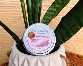 Jewelweed poison ivy, jewel weed  balm salve, poison ivy poison oak sumac itching,  eczema psoriasis relief