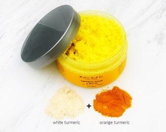 Turmeric Scrub MCT Malassezia, Sandalwood Ayurvedic Vegan skin exfoliant scrub, acne MCT oil skin product