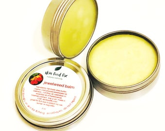 Jewel weed poison ivy, jewel weed oil balm salve, poison ivy poison oak sumac itching,  eczema psoriasis relief