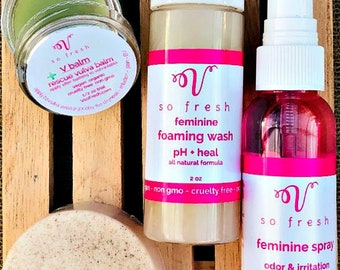 Bacterial Vaginosis Trial Kit,natural organic way to help feminine issues 4 piece SET