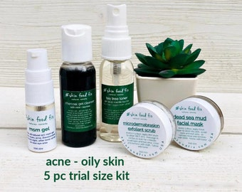Acne Breakout Skin Care, tea tree acne skin care, Gift Set Teen, Vegan Skin Care