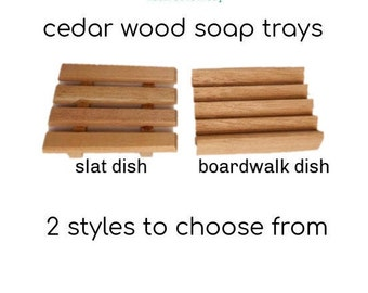 Wood Soap Dish Cedar Spanish Cedar Hand Made