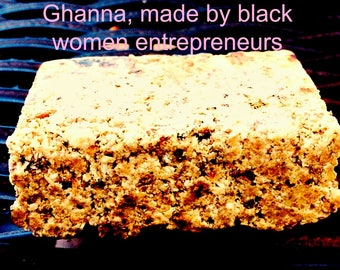 African Black Soap Hair Skin Acne Wash  fragrance free no scent soap, Ghana Shea Butter soap pure clean, VEGAN SKIN CARE