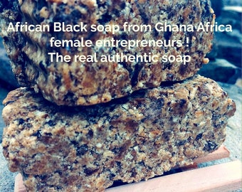 African Black Soap Hair Skin Acne Wash itchy skin fragrance free no scent soap, Ghana Shea Butter soap pure clean