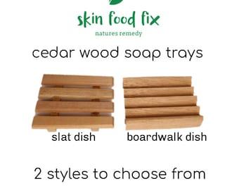 Soap tray Wooden Cedar Put Soap Natural Cedar Wood
