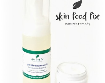 Rosacea Skin Wash Cleanser MSM Gentle Cucumber No Perfumes No Parabens No Alcohol Hassle Free Returns VEGAN