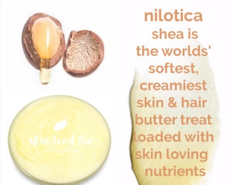 NILOTICA Shea East Africa Soft Butter Rare many nutrients for all skin problems chemo burns lips cuticles eyes face elbows feet HAIR twist