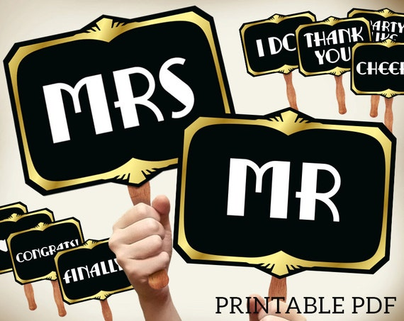 photograph regarding Wedding Photo Booth Props Printable called Marriage ceremony image booth props printable PDF. Superior Gatsby props. Wedding day signs or symptoms. Immediate down load. Roaring 20s photobooth. Proohibition generation.