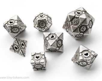 Companion Cube - 7 Dice Polyhedral RPG Set (including decader)