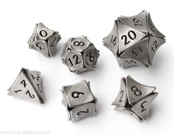 Peel Dice - 6 dice metal polyhedral set