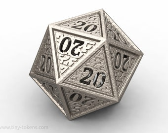 Hedron D20 All 20's version - Novelty twenty sided gaming dice