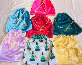Satin Drawstring Bags - Multiple Colors!
