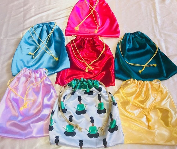 Satin Drawstring Bags - Multiple Colors!