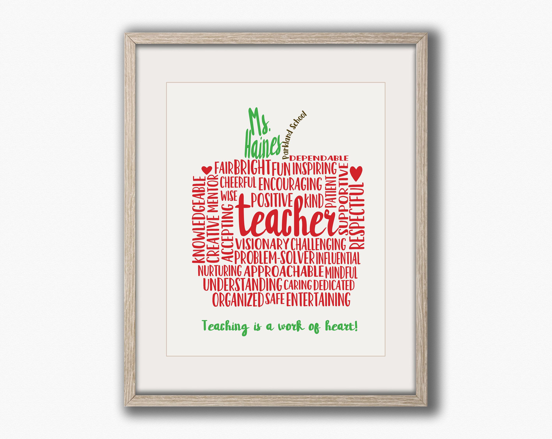 Teacher Christmas Gifts Teacher Gifts Personalized Teacher Etsy