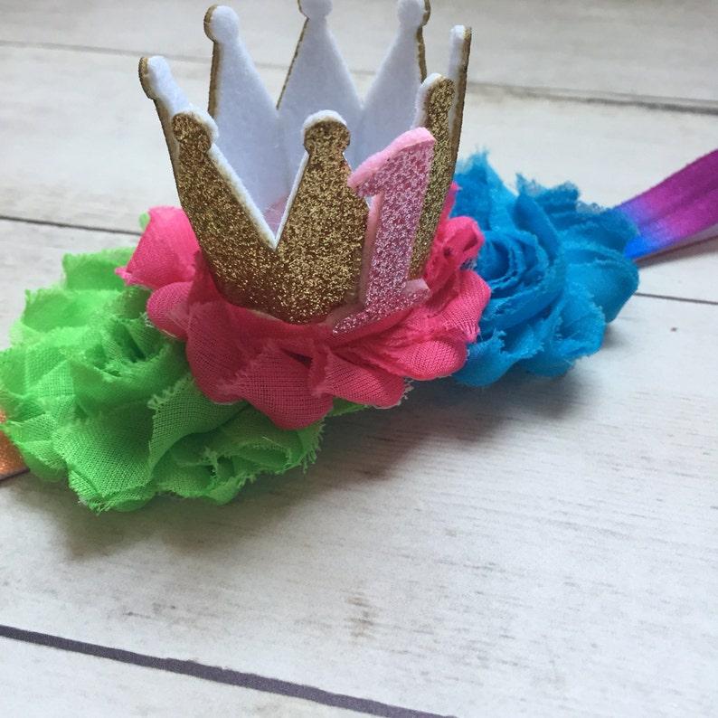 Smash Cake Outfit Smash Cake Headband Rainbow 1st Birthday Headband Rainbow First Birthday Headband Girls 1st Birthday