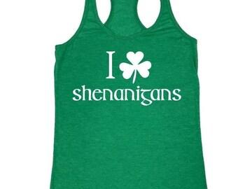 73b65fafe ON SALE - I Shamrock Shenanigans - Ladies' Tank Top - Saint Patricks Day tee
