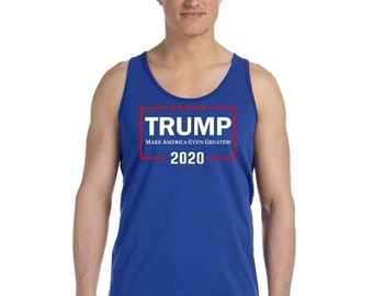 b101f835e1d318 ON SALE - Donald Trump 2020 Even Greater White and Red Text - Men s Tank Top