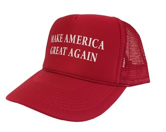 484e224a9eb Make America Great Again (White Text) Unisex Adult One Size Cap
