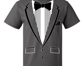 7d359abd ON SALE - Tuxedo (Black) with Pocket Square Ceremony - Men's T-shirt