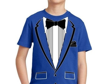 38a536d6d ON SALE - Tuxedo (Black) with Pocket Square Ceremony - Youth T-shirt