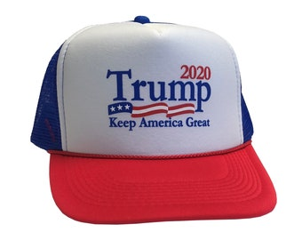 Trump 2020 Keep America Great USA Flag - Unisex Adult One Size Cap 2b31e8b94c3