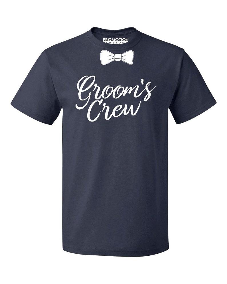 Groom's Crew Wedding Bachelor Party Men's T-shirt   Etsy