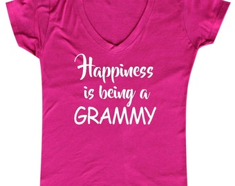 Happiness is Being A Grammy - Ladies' V-neck