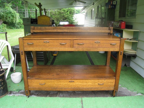 Vintage Original / Antique Side Board Buffet Grand Rapids Furniture ...
