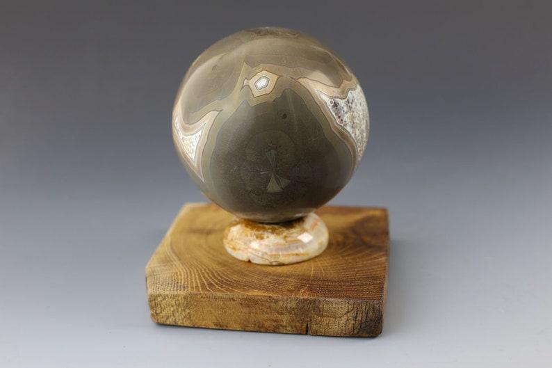Crystalline Porcelain Orb Alien Worlds Series #018