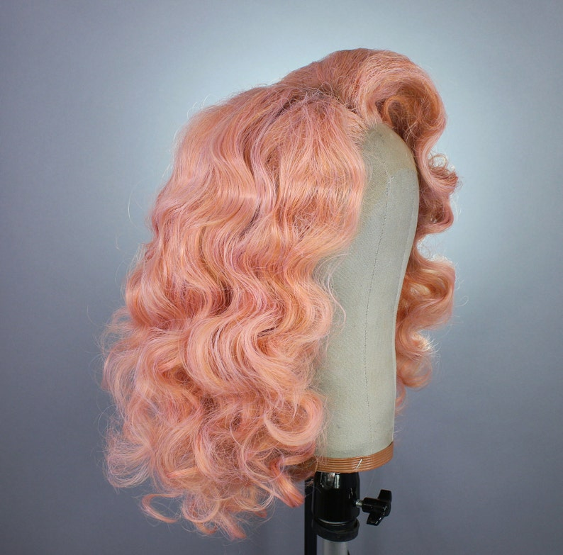 Drag Queen Wig Pink Rose Gold Strawberry Blonde Custom Etsy