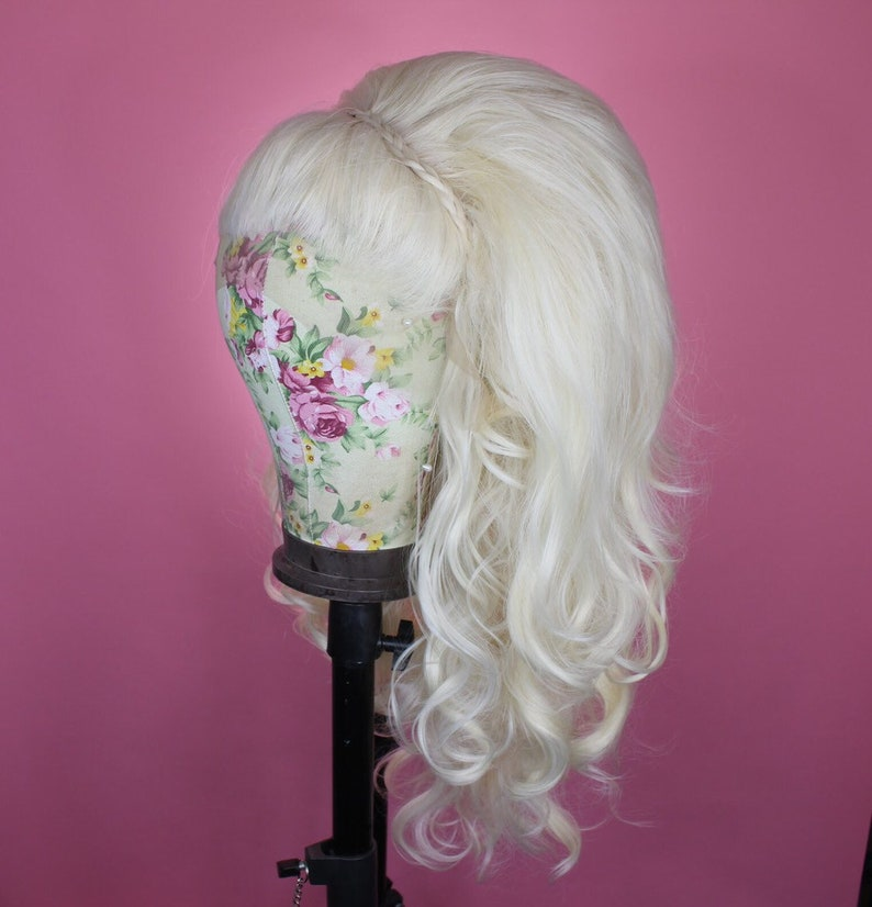 cb6a54a9ac42b8 Drag Queen Wig Platinum Blonde Stacked IQ Kitty Custom | Etsy