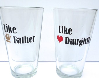 Birthday Gift For Dad Beer Glass From Daughter Personalized