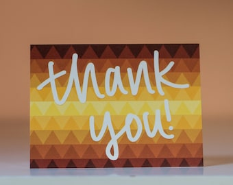 Thank You Triangle Card - Thanks Card - Thank You Card - Grateful Card - Thank You Greeting Card - Thanks Greeting Card