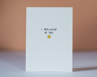 I Believe In You - Greeting Card - Just Because Card - Encouragement Card - Motivational Card - Thinking of You Card - Cards for Kids