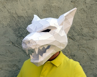 Make Your Own Werewolf Mask. | Papercraft Werewolf | Halloween Mask | Halloween Costume | Wolf Mask | Plain Papyrus | Teenage Werewolf
