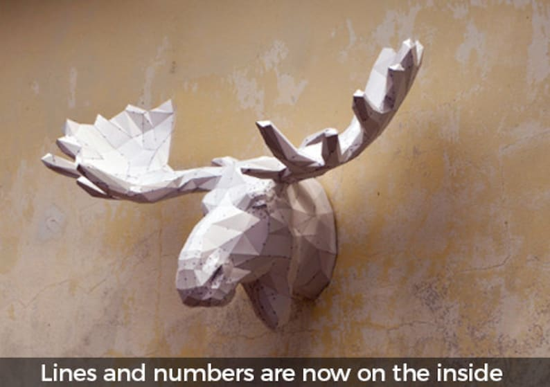 Make Your Own Moose Sculpture.  Papercraft Moose  Papercraft image 0