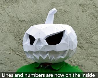 Make Your Pumpkin Mask. | Papercraft Pumpkin Mask | Halloween Mask | Paper Pumpkin | Jack O Lantern | Halloween Costume |