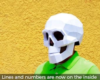 DIY Skull Mask. | Skull mask | Halloween Masks | papercraft | Halloween mask | Calavera | Skull and bones | Halloween Costume | Costume Mask