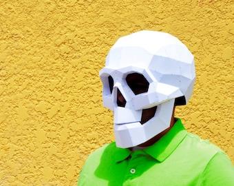 DIY Skull Mask.   Skull mask   Halloween Masks   papercraft   Halloween mask   Calavera   Skull and bones   Halloween Costume   Costume Mask