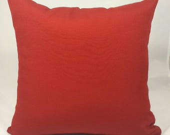 Indoor/Outdoor Cherry Red Cushion Cover.