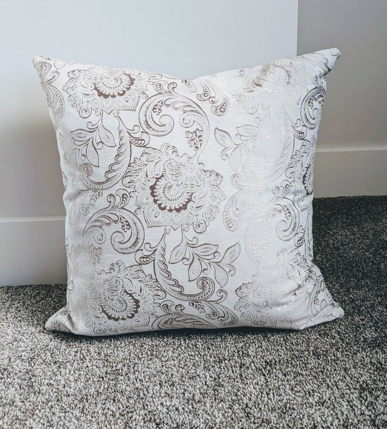 Large Pillow Covers Decorative Pillows Accent Pillow Covers for a 26 insert Beige Floral Pillow Cushion Cover Toss cushions