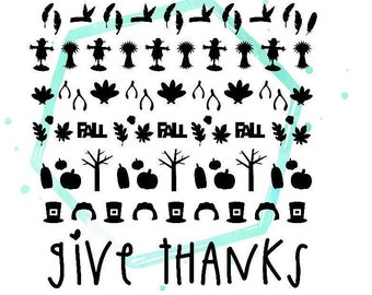 Thanksgiving Vinyl Nail Stickers