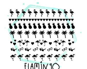Flamingo Vinyl Nail Stickers
