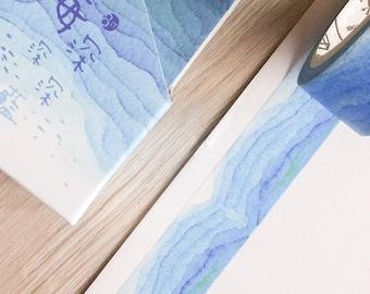 Cute washi tape - blue sea - poem tape | Cute Stationery