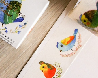 Wide, cute washi tape - birds - collage | Cute Stationery