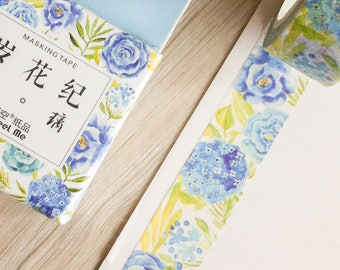 Cute washi tape - blue flowers - infeel me | Cute Stationery
