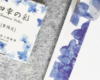 Cute washi tape - blue flowers | Cute Stationery