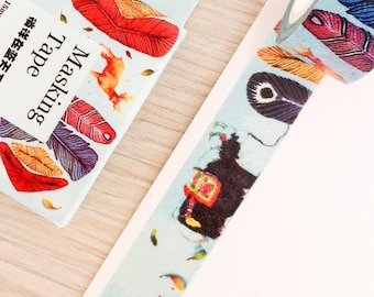 Cute washi tape - feathers | Cute Stationery