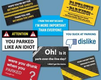Bad Parking Cards - Set of 24!
