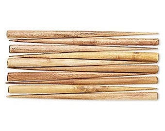 """Brown Hair Stick, Wood Hair Stick, end drilled, Wooden, 6"""" long, sold per pair, D391"""